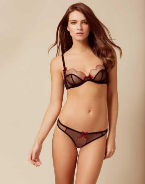 agent-provocateur-black-Lorna-Brief-Black-And-Red